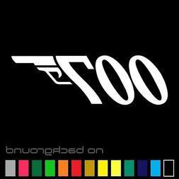 007 James Bond Sticker Vinyl Decal Gun Wall Car Window Truck