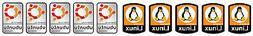 10 Linux Ubuntu Stickers Computer Laptop Badge Decal  HIGH Q