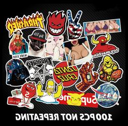 100 Pcs Stickers Skateboard Sticker Graffiti Laptop Luggage