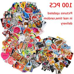 100 Random Music Film Vinyl Skateboard Stickers Laptop Stick