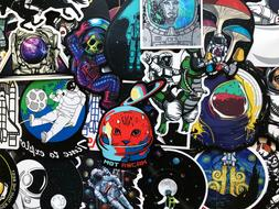 100 Bulk Sticker Pack Dope NASA Space Science Decals For Lap