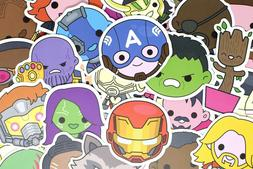 100  Cute Superhero Avengers Marvel Stickers for Hydro Flask