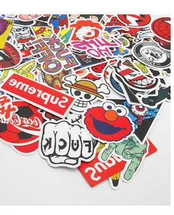 100 Pack Skateboard Stickers Vintage Vinyl Laptop Luggage De