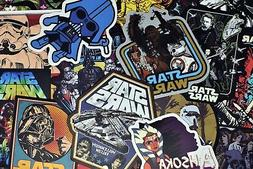 100 PCS Cool Star Wars Stickers Pack for Water Bottle Luggag