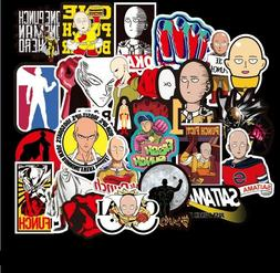 100 pcs One Punch Man Anime Stickers wall pc Laptop Luggage