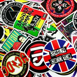 100 PCS Rock Band Logo Stickers Decal Lot Punk Vinyl Music H