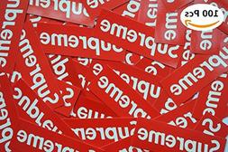 100 Piece Supreme Stickers Waterproof And Oil Proof Supreme