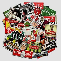 100 pcs Supreme Sticker Box LOGO Mixed Skateboard Vinyl Stic