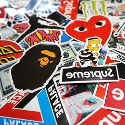 100 Sticker Pack, Supreme Bape Hypebeast Laptop Skateboard S