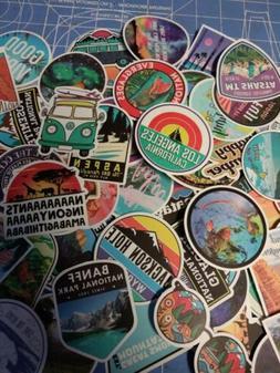 100 Travel Sticker Lot Pack travel Vintage Retro Luggage Lap