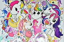 100 Unicorn Teen Girl Waterproof Vinyl Stickers for Hydro Fl