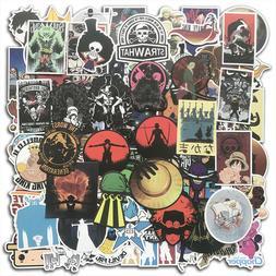 100 Vinyl Anime One Piece Stickers Bomb Skateboard Laptop Lu