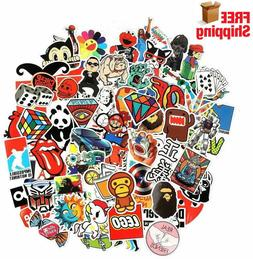 100 Waterproof Stickers - Laptop Car Luggage Dope Supreme Hy