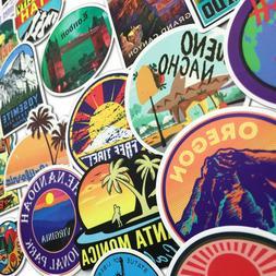 100 World Landmark Travel USA Sate City Skateboard stickers
