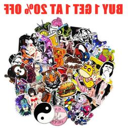 50/100/200/1000 Skateboard Stickers Bomb Vinyl Laptop Luggag