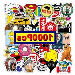1000pc Mix Lot Stickers for Skateboar Graffiti Laptop Sticke