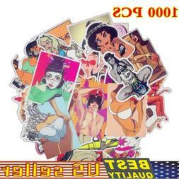1000Pcs Graffiti Car Stickers Sexy Girl Laptop Luggage Skate