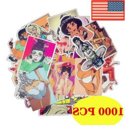 1000PCS Sexy beauty Girls Sticker Laptop Motorcycle Skateboa
