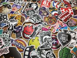 100pcs Waterproof Skateboard Longboard Vintage Vinyl Sticker