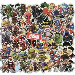 100Pcs Cool Marvel Superhero Sticker Pack Skateboard Luggage