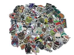 100pcs lot waterproof Sticker SKULL Decal Vinyl Skate Skateb