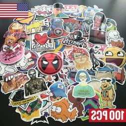100Pcs Skateboard Stickers bomb Vinyl Laptop Luggage Decal D