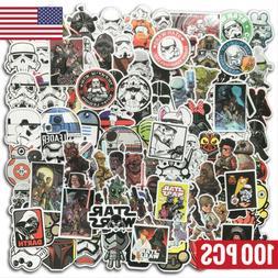 100Pcs Star Wars Vinyl Stickers Graffiti Bomb Decals Pack Ca