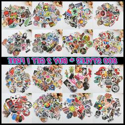100Pcs Sticker Random Vinyl Laptop Skateboard Bike Luggage D