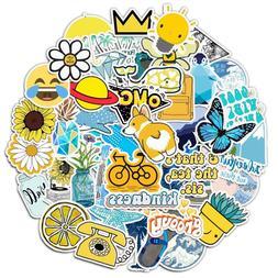 100pcs VSCO Girl Blue Yellow Skateboard Sticker Vinyl Bomb L