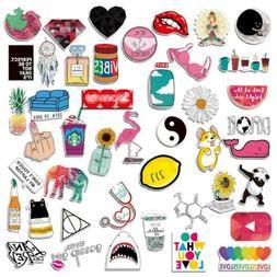 Lcoor 106 Pcs Girl Cute Lovely Laptop Pink Stickers,Cartoon