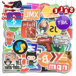 108Pcs Vinyl Developer Programming Sticker Laptop Skateboard