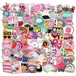 110Pcs Cute Pink Stickers Bomb Waterproof Skateboard Luggage