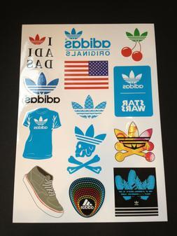 12 Adidas  Skateboard Longboard Vintage Vinyl Sticker Laptop