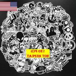 120 Black White Stickers Bomb Graffiti Skateboard Luggage La