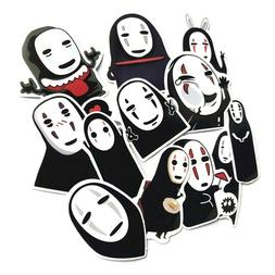 12pcs Anime Totoro No Face Man Sticker for Cars Laptop Lugga