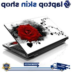 Laptop Sticker Skin Protective Notebook Vinyl Decal Red Rose