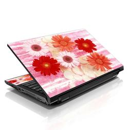 "13.3"" 15.6"" 16"" Laptop Skin Sticker Notebook Decal Red Daisy"