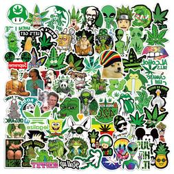 130pcs Weed Leaves Stickers Smoking Graffiti for Skateboard