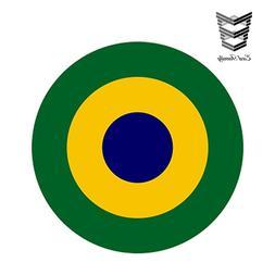 Brazil Bumper Sticker Proud Brazilian Gift WickedGoodz Brazilian Flag Skull Vinyl Decal