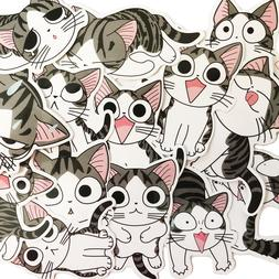 14 Cute Anime Kitty Cat Stripes Kawaii Laptop Stickers For L