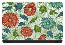15.6 inch Artistic/Floral-Laptop Vinyl Skin/Decal/Sticker/Co