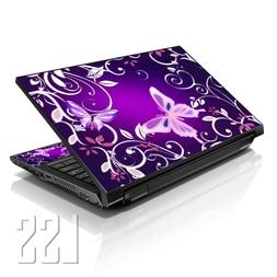"""LSS Laptop 17-17.3"""" Skin Cover with Colorful Purple Butterfl"""