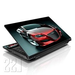 "LSS Laptop 17-17.3"" Skin Cover with Colorful Red Audi Car Pa"
