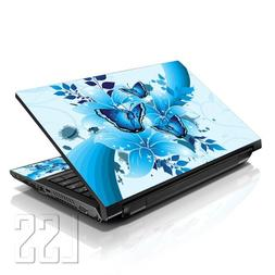 "LSS Laptop 17-17.3"" Skin Cover with Colorful Sparkling Blue"