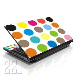 """LSS Laptop 17-17.3"""" Skin Cover with Colorful Polka Dots Patt"""