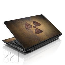 """LSS Laptop 17-17.3"""" Skin Cover with Colorful Nuclear Sign Pa"""