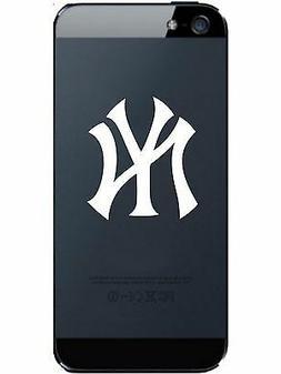2 UNITS New York YANKEES Vinyl Smart Phone Decal Laptop WHIT