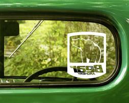 2 bear archery decals sticker for car
