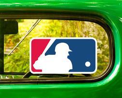 2 MLB BASEBALL LOGO DECAL Sticker Bogo For Car Window Bumper