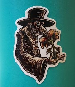 """2"""" PLAGUE DOCTOR Sticker/Decal - Original Art - Skateboard L"""